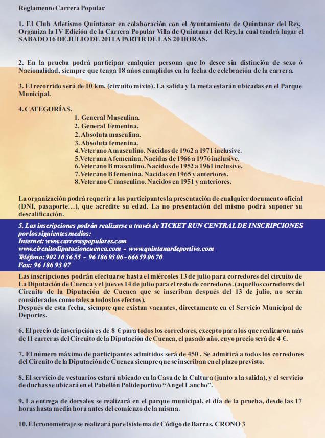 Circuito Quintanar Del Rey : Iv carrera popular de quintanar del rey circuito