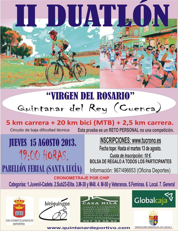 Circuito Quintanar Del Rey : Ii duatlon quot virgen del rosario de quintanar rey